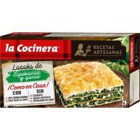 Lasaña de espinacas-queso fresco LA COCINERA, caja 530 g