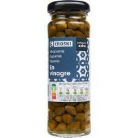 Alcaparras EROSKI, frasco 60 g