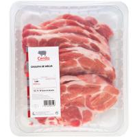 Chuleta de aguja de cerdo, bandeja aprox. 1.2 kg