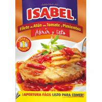Filete de atún con tomate-pimiento ISABEL, sobre 150 g