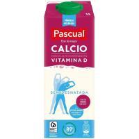 Leche semidesnatada Calcio Pascual, brik 1 litro