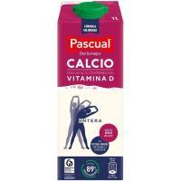 Leche Entera Calcio PASCUAL, brik 1 litro